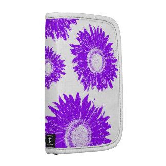 Scattered Purple Sunflowers Rickshaw Folio Planner