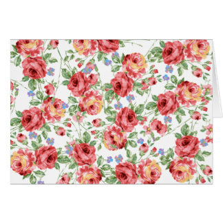 Scattered Roses by BobCatDesign Greeting Card