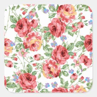 Scattered Roses by BobCatDesign Square Sticker