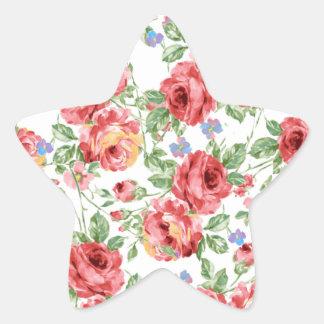 Scattered Roses by BobCatDesign Star Sticker