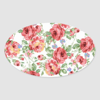 Scattered Roses by BobCatDesign Oval Stickers