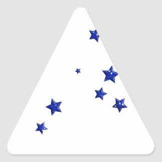 SCATTERED ROYAL BLUE STARS ACCENTS TEMPLATE BACKGR STICKER