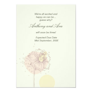 "Scattered Seeds Pregnancy Announcement 5"" X 7"" Invitation Card"