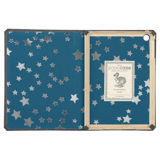Scattered Stars on Blue iPad Air Cases