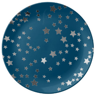 Scattered Stars on Blue Plate