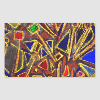 Scattered Stationery (abstract expressionism ) Rectangular Sticker