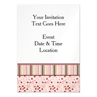 Scattered Strawberry Swirl Pattern With Border Magnetic Card