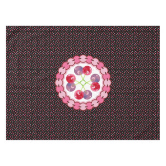 Scattered Watercolor Cherries Pattern Tablecloth