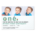 Scattered Word Animals First Birthday Party Invite