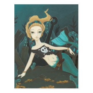 Scavenger - Mermaid pirate postcard