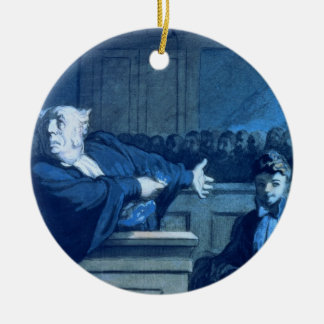 Scene at a tribunal (w/c) christmas ornament