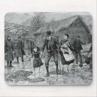 Scene at an Irish Eviction in County Kerry Mouse Pad