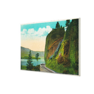 Scene at Shepperd's Dell on Columbia River Stretched Canvas Prints