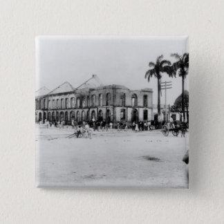 Scene at the Port of Spain, Trinidad, 1891 15 Cm Square Badge
