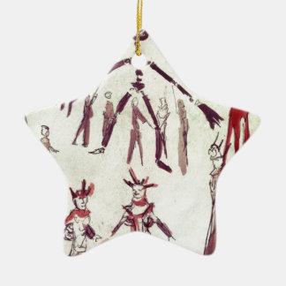 Scene Drawing from Ubu Roi Ceramic Star Decoration