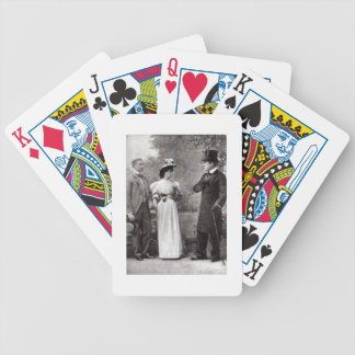 Scene from a performance of The Importance of Bein Bicycle Playing Cards