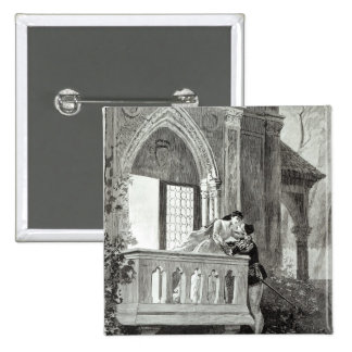 Scene from Act II of Romeo and Juliet 15 Cm Square Badge