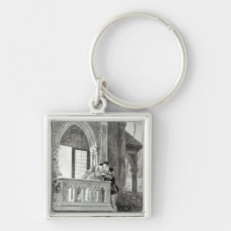 Scene from Act II of Romeo and Juliet Silver-Colored Square Key Ring