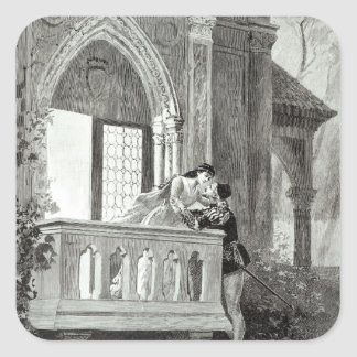 Scene from Act II of Romeo and Juliet Square Sticker