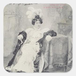 Scene from Act II of the opera 'La Boheme' Square Sticker
