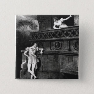 Scene from Act III of 'Romeo and Juliet' 15 Cm Square Badge