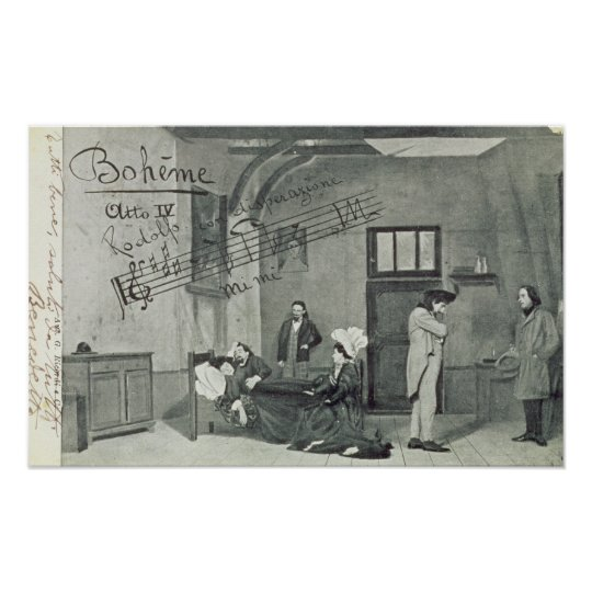 Scene from Act IV of the opera 'La