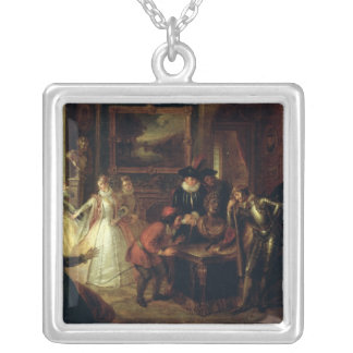 Scene from 'Don Quixote de la Mancha' Silver Plated Necklace