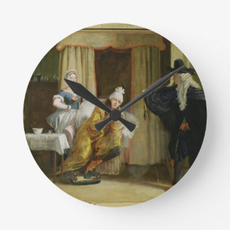 Scene from 'Le Malade Imaginaire' by Moliere (1622 Round Clock