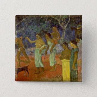 Scene from Tahitian Life, 1896 15 Cm Square Badge