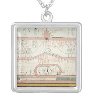 Scene from the Book of Amduat Silver Plated Necklace