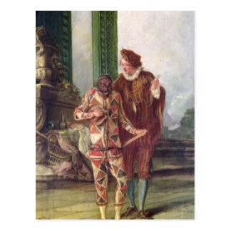 Scene from the Commedia dell'Arte Postcard