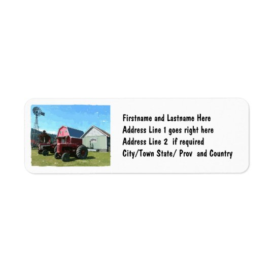 Scene From the Country Return Address Label