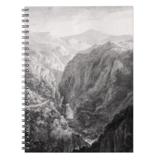Scene from the Inn at Devil's Bridge with the Fall Spiral Note Books
