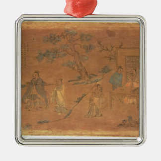 Scene from the life of Confucius Christmas Ornament