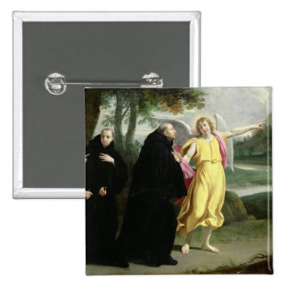 Scene from the Life of St. Benedict 15 Cm Square Badge