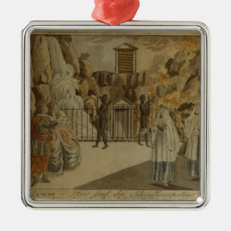 Scene from 'The Magic Flute' by Mozart, 1795 Silver-Colored Square Decoration