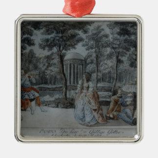 Scene from 'The Magic Flute' Silver-Colored Square Decoration
