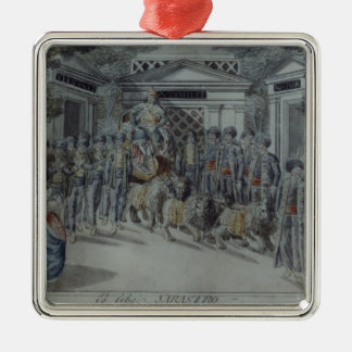 Scene from 'The Magic Flute' Silver-Colored Square Decoration