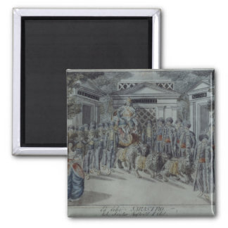 Scene from 'The Magic Flute' Square Magnet