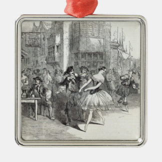 Scene from the new Ballet of 'The Wags of Silver-Colored Square Decoration