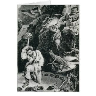 Scene from the opera 'Der Freischutz' Greeting Card