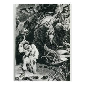 Scene from the opera 'Der Freischutz' Postcard