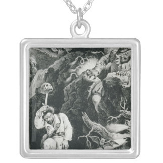 Scene from the opera 'Der Freischutz' Silver Plated Necklace