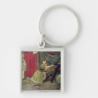 Scene from the opera 'Pagliacci' Keychains