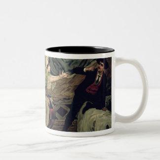Scene from the opera 'Pagliacci' Two-Tone Coffee Mug
