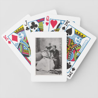 Scene from the performance of The Importance of Be Bicycle Playing Cards