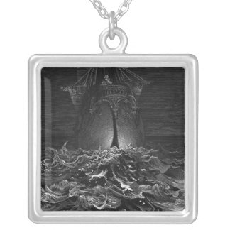 Scene from 'The Rime of the Ancient Mariner' 2 Silver Plated Necklace