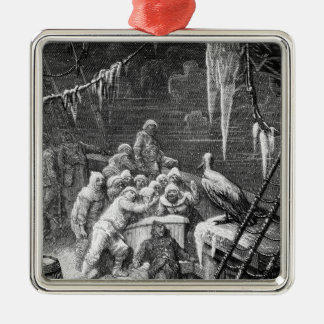 Scene from 'The Rime of the Ancient Mariner' 3 Silver-Colored Square Decoration