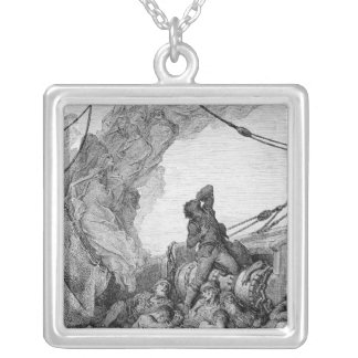 Scene from 'The Rime of the Ancient Mariner' 3 Silver Plated Necklace