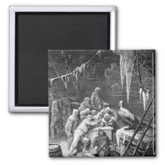 Scene from 'The Rime of the Ancient Mariner' 3 Square Magnet